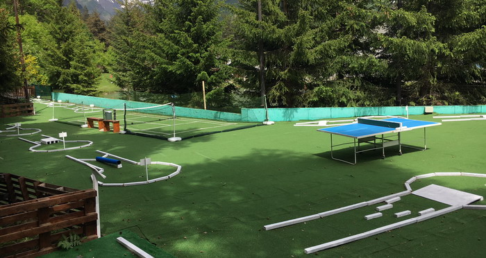 il percorso del mini golf chamois